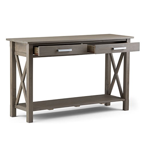 modern furniture kitchener simpli home kitchener solid wood 47 inch wide contemporary modern console sofa entryway table in 2688