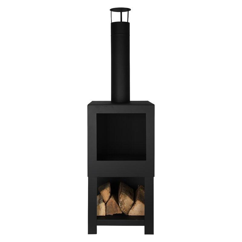 Ahmier Terrace Heater Steel Wood Burning Outdoor Fireplace ... on Quillen Steel Wood Burning Outdoor Fireplace id=27552