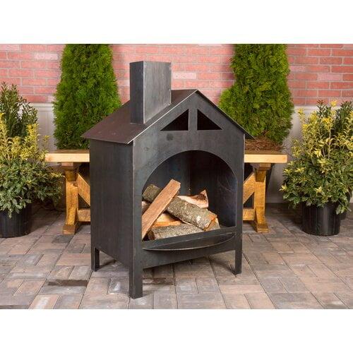Baranowski Bel Aire Steel Wood Burning Outdoor Fireplace ... on Quillen Steel Wood Burning Outdoor Fireplace id=96061