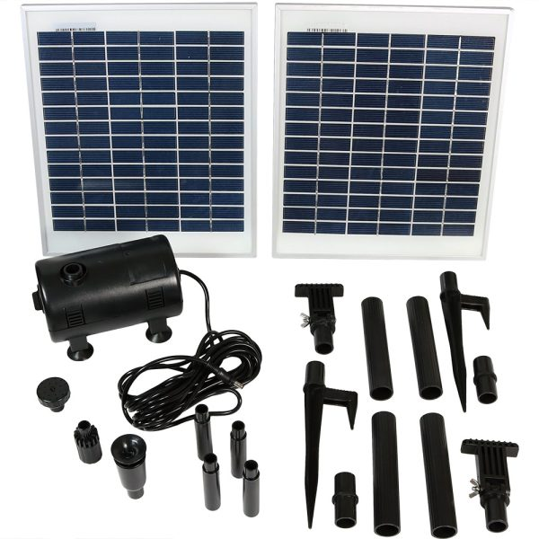 Sunnydaze Solar Pump & Solar Panel Kit with 120 Inch Lift 396 GPH
