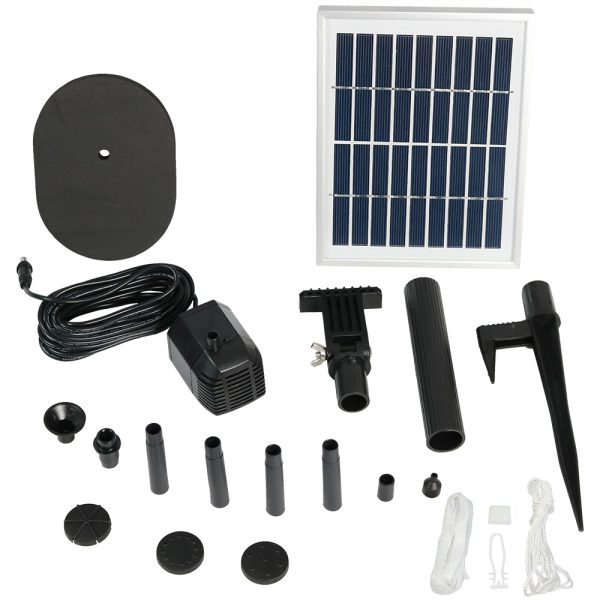 Outdoor Solar Pump & Panel Kit with 36 Inch Head for Pond Solar Fountains
