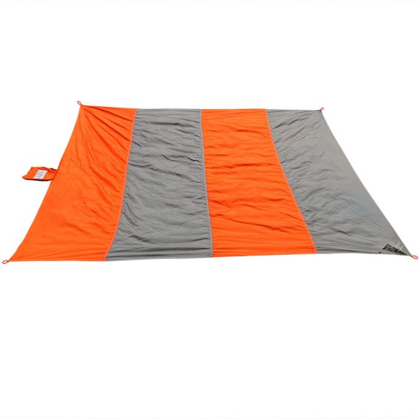Sunnydaze Pocket Blanket for Camping, Picnics, Hiking, and the Beach, Lightweight Nylon, Orange/Grey