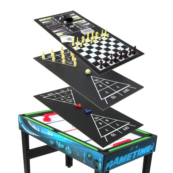 Sunnydaze Multi Game 10-in-1 Game Table Billiards Foosball Hockey Pool