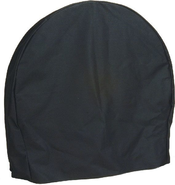 Sunnydaze Log Hoop Cover, Size and Color Options Available, Black, 48-Inch