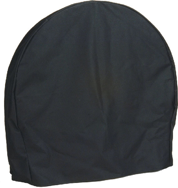 Sunnydaze Log Hoop Cover, Size and Color Options Available, Black, 24-Inch