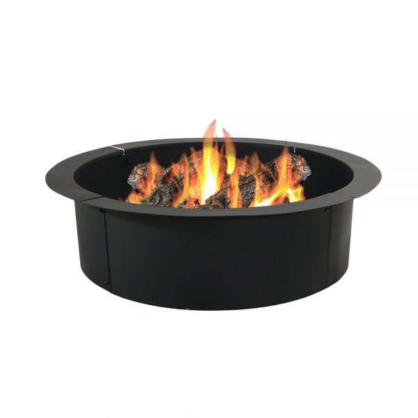 Sunnydaze Heavy Duty Fire Pit Ring/Liner, DIY Fire Pit Above or In-Ground, Steel, 30-Inch