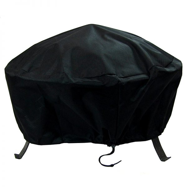 Sunnydaze Round Black Fire Pit Cover, Size Options Available, 30-inch Diameter