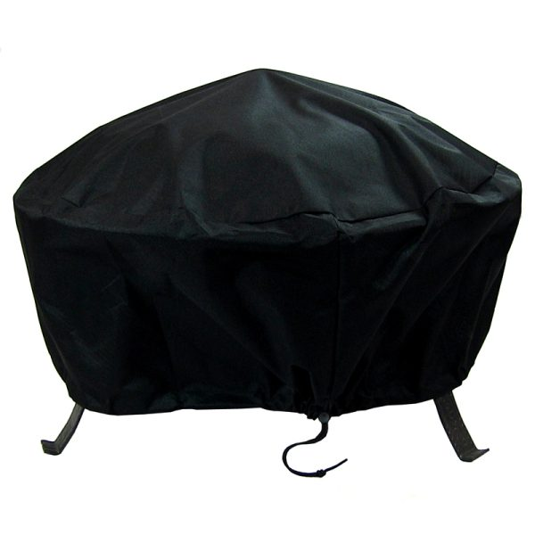 Sunnydaze Round Black Fire Pit Cover, Size Options Available, 60-inch Diameter