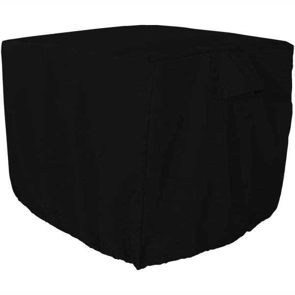 Sunnydaze Square Black Outdoor Protective Air Conditioner Cover - 34-Inch