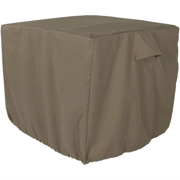 Sunnydaze Heavy-Duty Square Air Conditioner Cover, 34 X 30 Inch, Color Options Available, Khaki