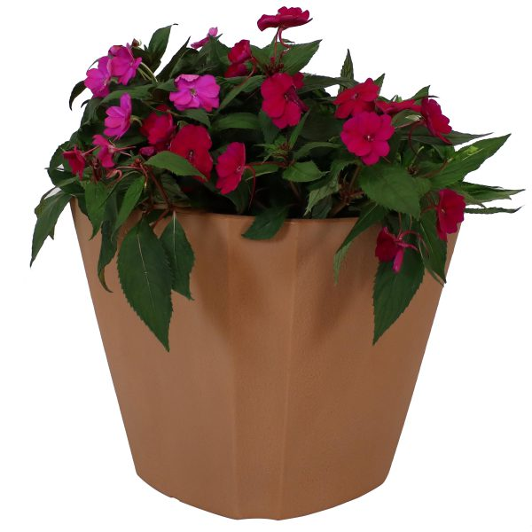 Sunnydaze Jefferson Outdoor/Indoor Planter Pot, Heavy-Duty Double-Walled Polyresin with UV-Resistant Natural Clay Finish, 20-Inch, Single