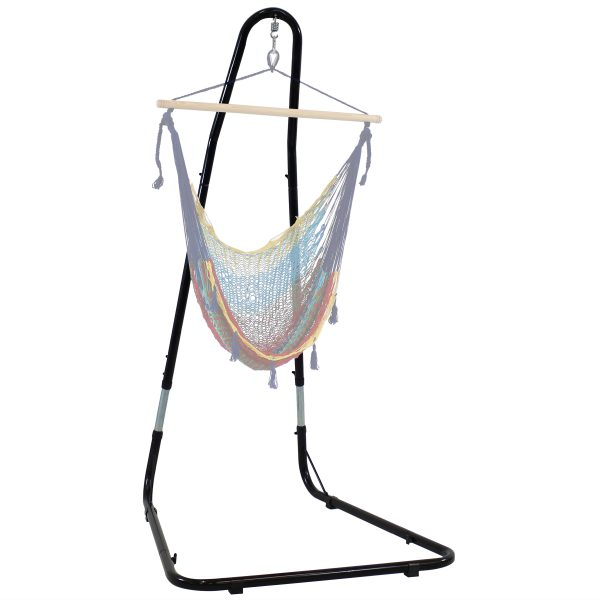 Sunnydaze Adjustable Heavy Duty Hammock Chair Stand - up to 93 Inch Tall