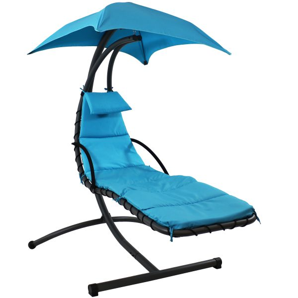 Sunnydaze Floating Chaise Lounge Chair, 260 Pound Capacity, Teal