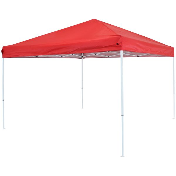 Sunnydaze 10 x 10 Foot Quick-Up Steel Frame Canopy with Carrying Bag - Red