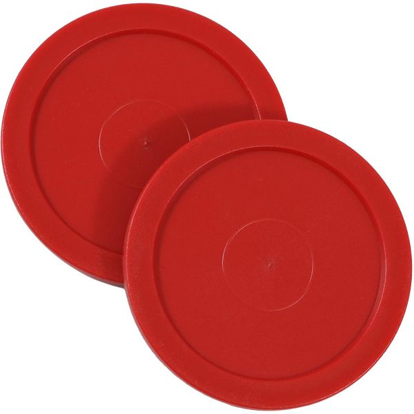 Sunnydaze Large 2.5 Inch Replacement Air Hockey Game Table Pucks - Options, 2 Pack
