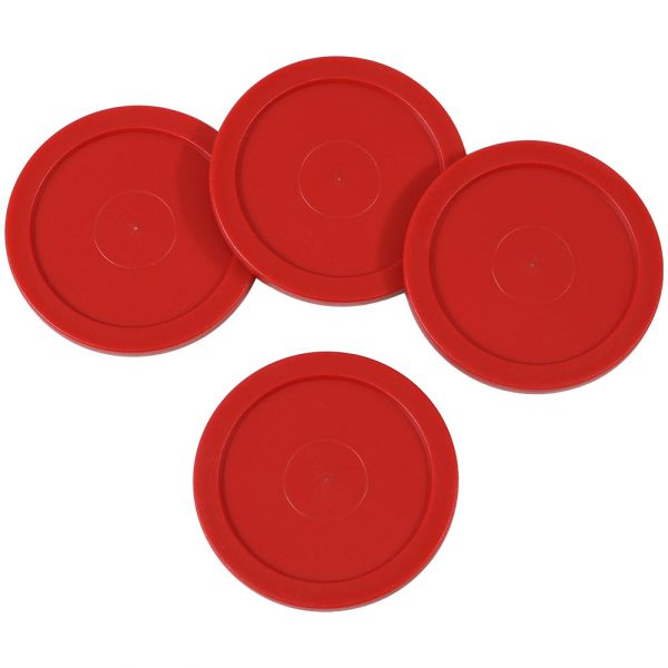 Sunnydaze Large 2.5 Inch Replacement Air Hockey Game Table Pucks - Options, 4 Pack