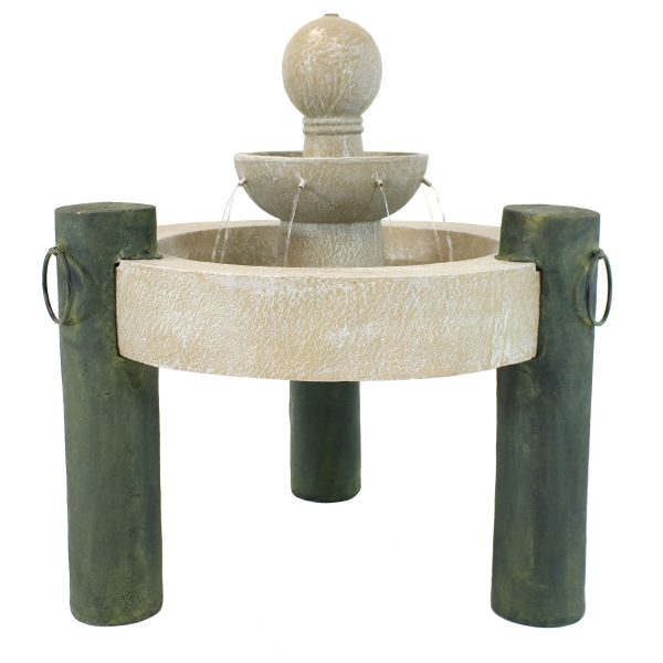 Sunnydaze 2-Tier Raised Cathedral Basin Outdoor Fountain - 37-Inch