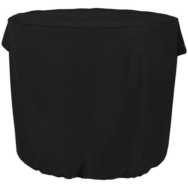 Sunnydaze Heavy Duty Round Air Conditioner Cover, 34 X 30 Inch, Color Options Available, Black