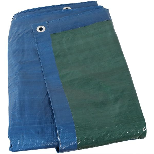 Sunnydaze Waterproof Multi-Purpose Poly Tarp, Color and Size Options Available, Blue Green, 30-feet x 50-feet