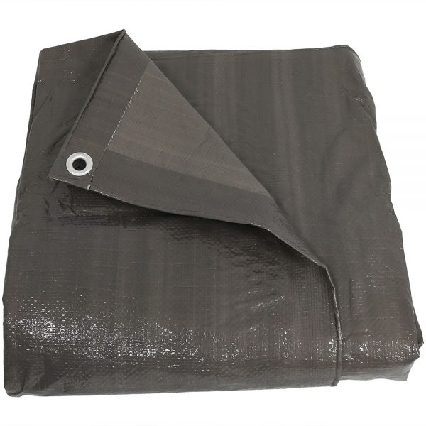 Sunnydaze Waterproof Multi-Purpose Poly Tarp, Color and Size Options Available, Dark Grey, 8-feet x 10-feet