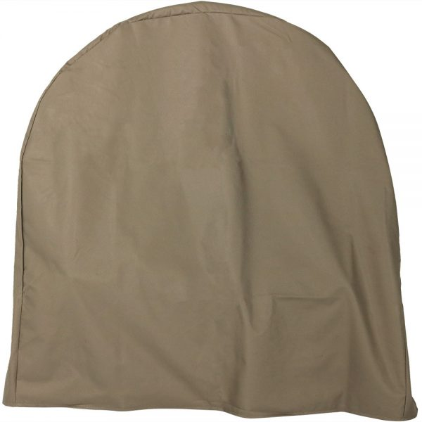 Sunnydaze Log Hoop Cover, Size and Color Options Available, Khaki, 24-Inch