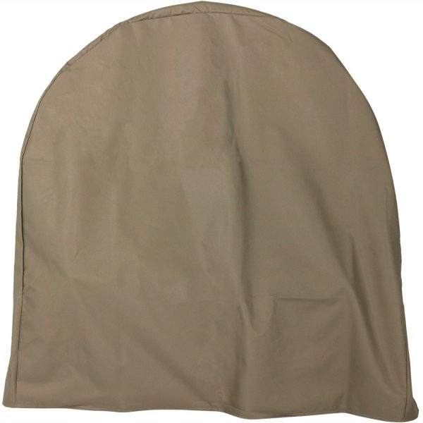 Sunnydaze Log Hoop Cover, Size and Color Options Available, Khaki, 40-Inch