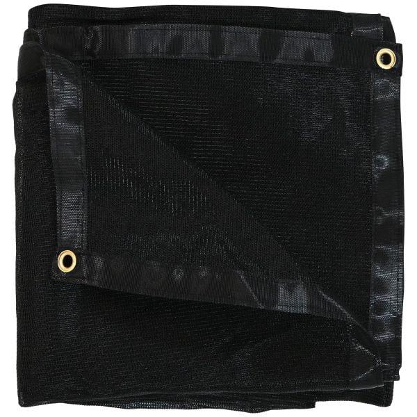 Sunnydaze Multi-Purpose UV-Resistant High-Density Polyethylene Black Mesh Tarp, 8-Foot x 16-Foot