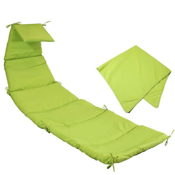Sunnydaze Hanging Lounge Chair Replacement Cushion and Umbrella, Apple Green