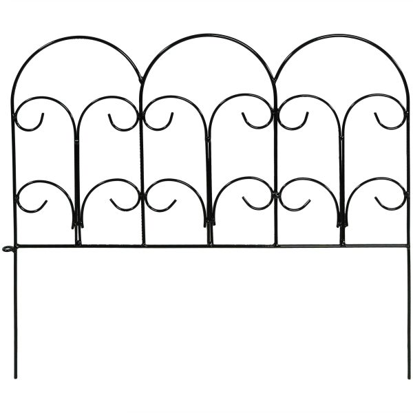 Sunnydaze 5-Piece Victorian Border Fence Set 16 Inches Tall - 7.5 Overall Feet