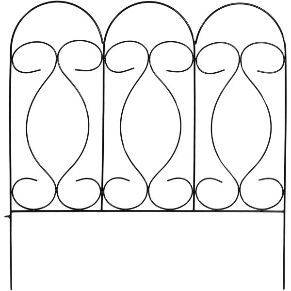 Sunnydaze 5 Piece Traditional Border Fence Set 24 Inches Tall x 24 Inches Wide