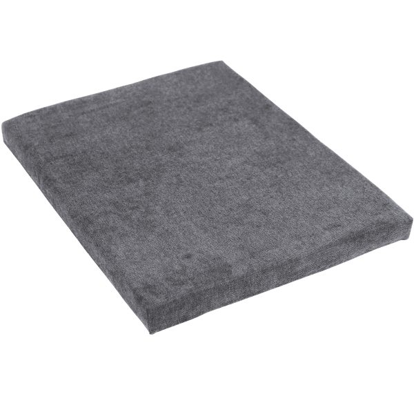 CASL Brands File Cabinet Cushion Seat for Mobile Pedestals, with Magnetic Back, Gray