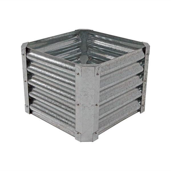 Sunnydaze Galvanized Steel Raised Garden Bed Kit, Square