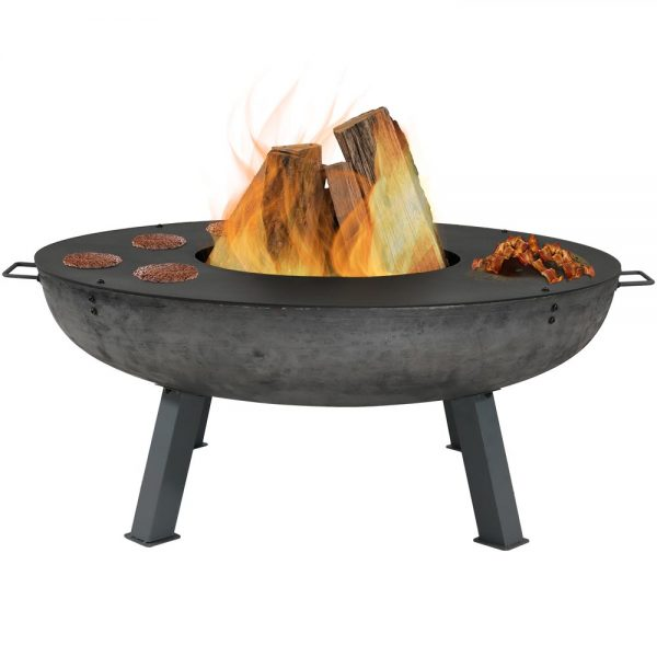 Sunnydaze 40 - Inch Fire Pit with Cooking Ledge