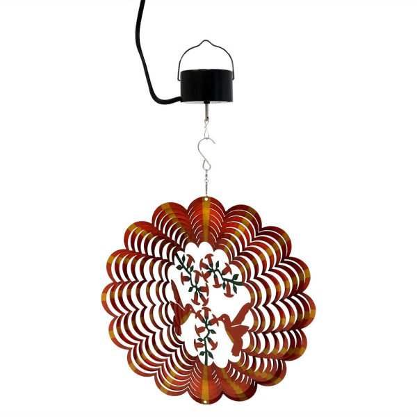 Sunnydaze Orange Hummingbird Wind Spinner with Hook, 12-Inch, Yes, Corded Electric Motor