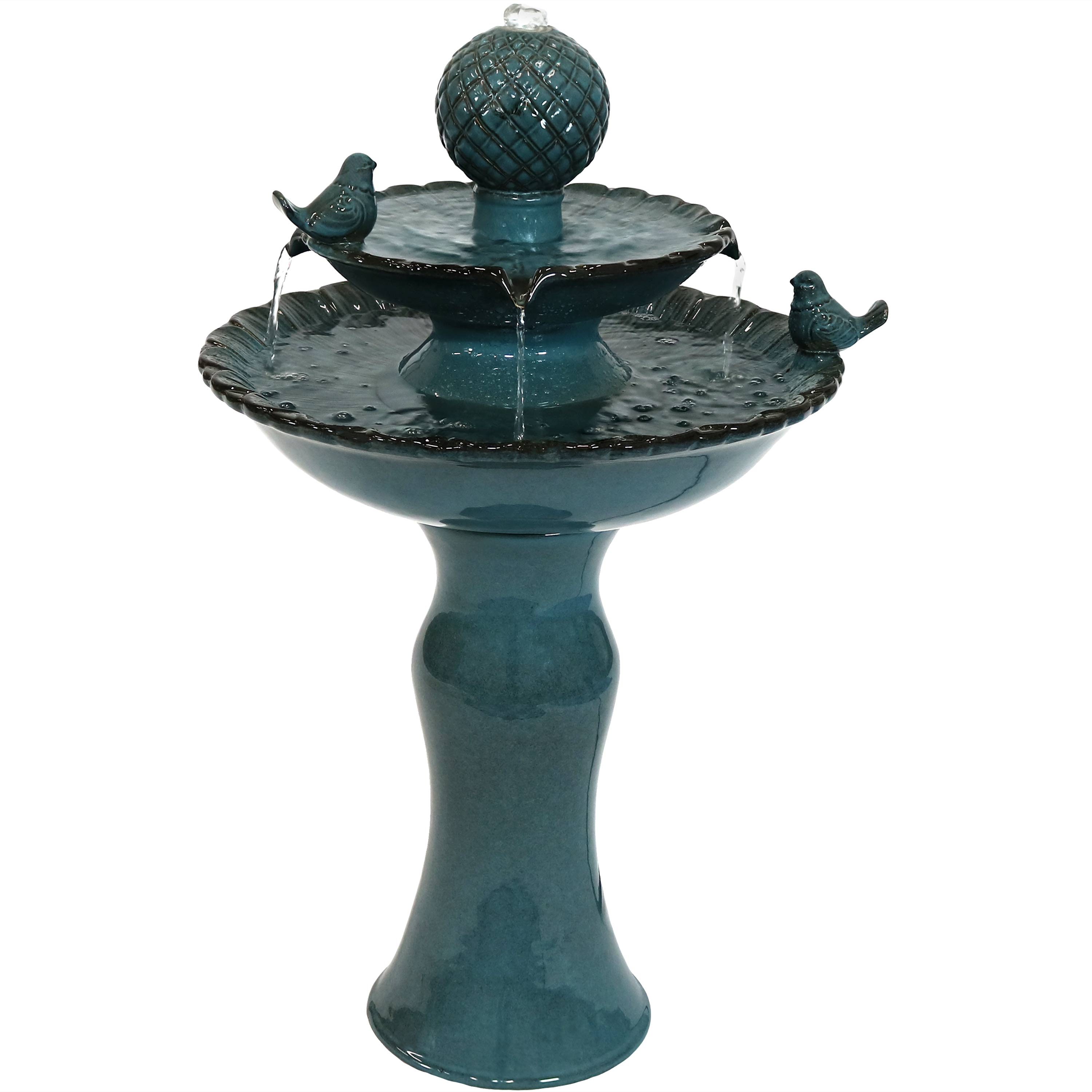 Outdoor Chiselled Bowl Planter, Outdoor water feature