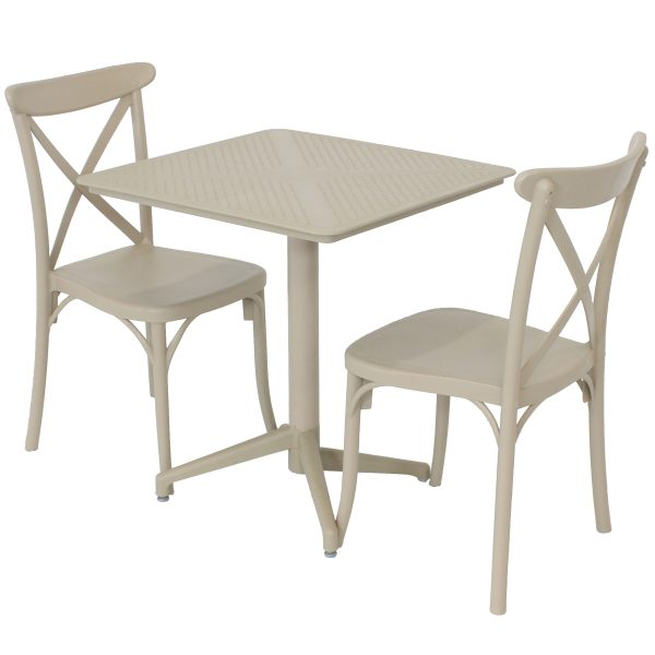 Sunnydaze All-Weather Bellemead 3-Piece Indoor/Outdoor Table and Chairs - Coffee