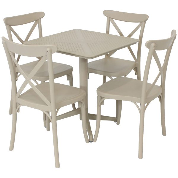 Sunnydaze All-Weather Bellemead 5-Piece Indoor/Outdoor Table and Chairs - Coffee