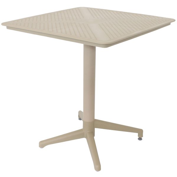 Sunnydaze Indoor/Outdoor All-Weather Square Foldable Table - Plastic - Coffee