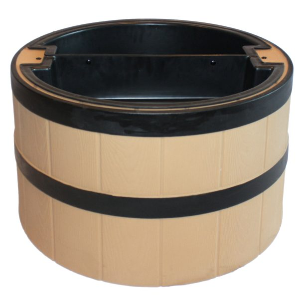 TankTop Covers Decorative Whiskey Barrel Planter Style Septic, Well, Lawn and Garden Enclosure, 31-Inch Diameter, Straw