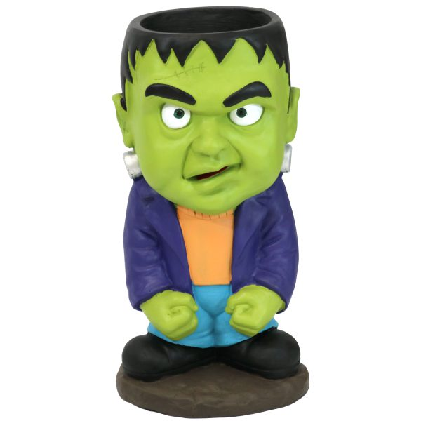 Sunnydaze Frankenstein Halloween Statue with Candy Bowl Dish - 27-Inch Tall