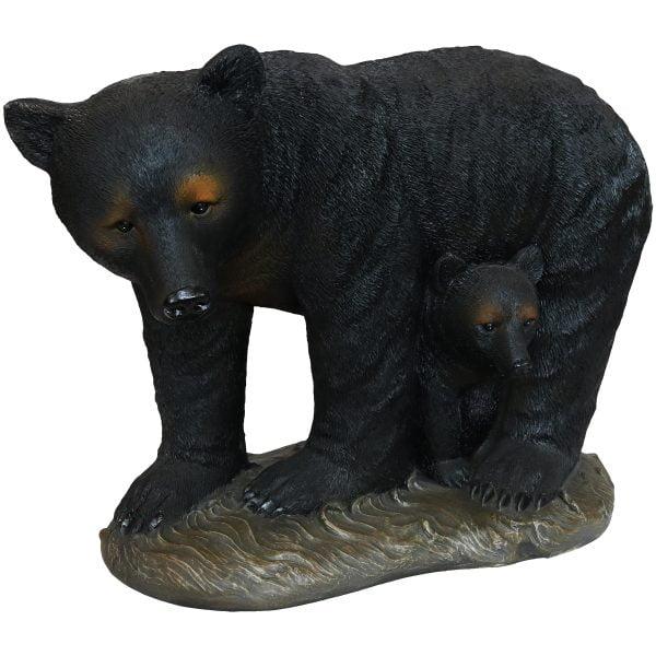 Sunnydaze Mama Bear and Cub Rustic Outdoor Garden Statue - 21-Inch
